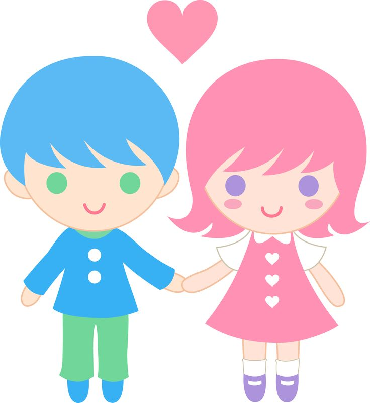 736x801 Cute Boy Girl Clipart