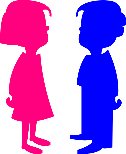 492x597 Boy And Girl Cartoon Clipart To Color