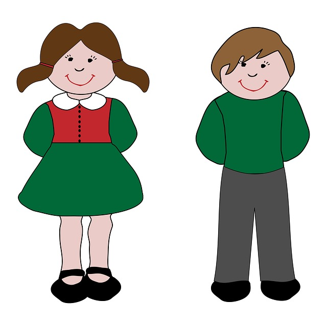 640x639 Boy And Girl Clipart