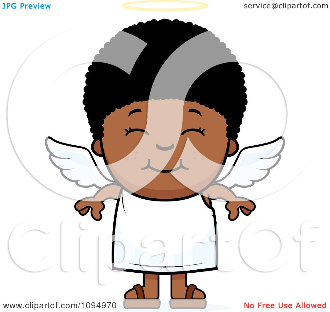 1080x1024 Clipart Smiling Black Angel Boy