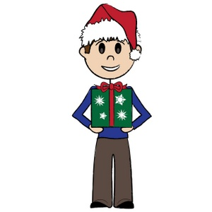 300x300 Free Christmas Present Clipart Image