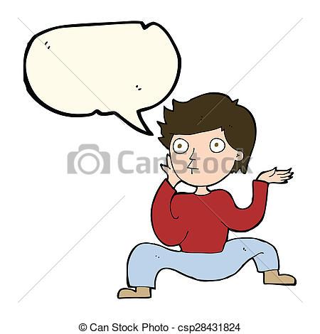 450x470 Cartoon Boy Doing Crazy Dance With Speech Bubble Clip Art