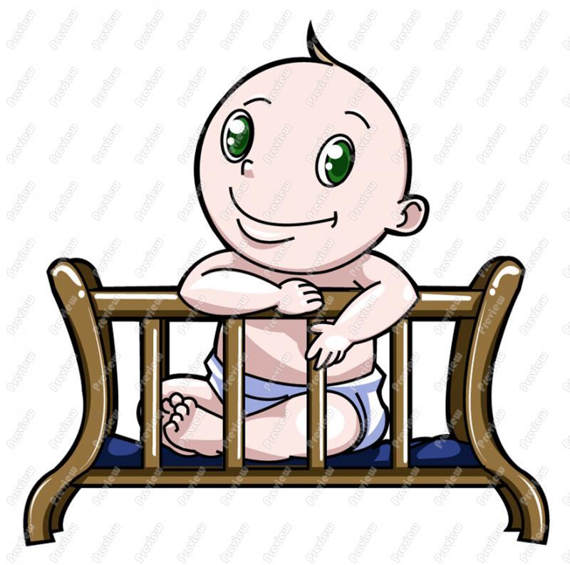 800x793 Clip Art Baby Boy Crib Clipart Clipart Suggest, Baby Crib Cartoon