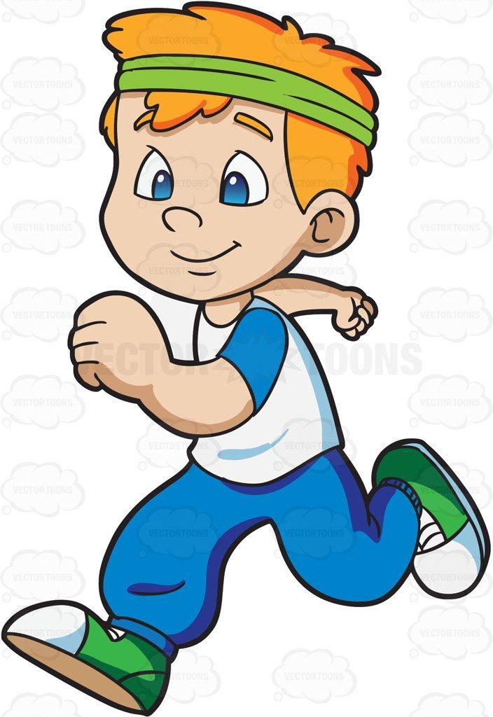 704x1024 A Boy Jogging Happily Cartoon Clipart Vector Toons