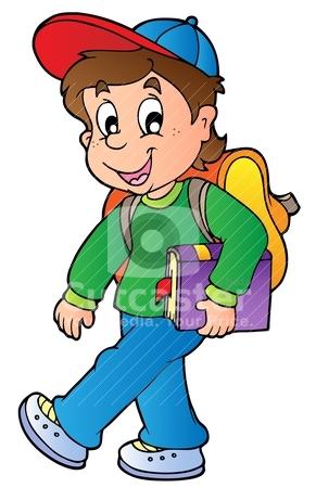 291x450 School Boy Cartoon Clipart