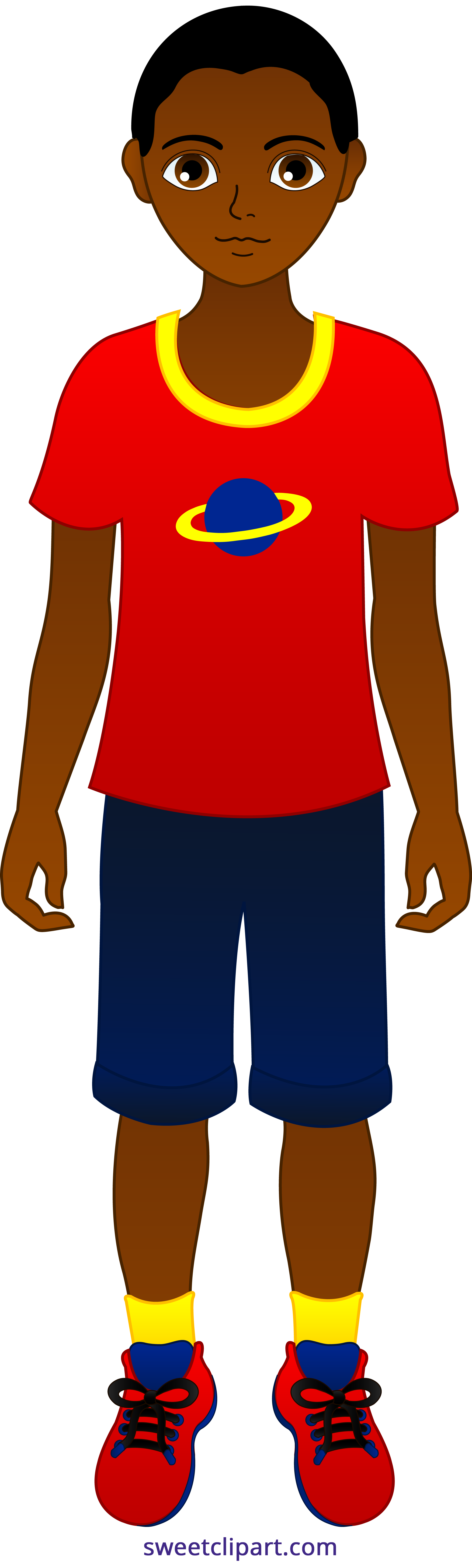 2024x6719 Little Boy African American Clipart