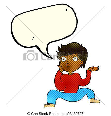 450x470 Cartoon Boy Doing Crazy Dance With Speech Bubble Clip Art