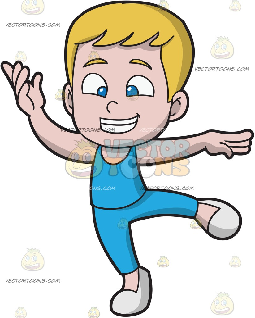 824x1024 A Happy Boy Dancing Ballet Cartoon Clipart Vector Toons