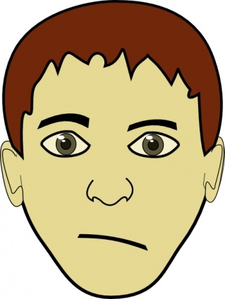 319x425 Free Download Of Brown Hair Boy Face Clip Art Vector Graphic