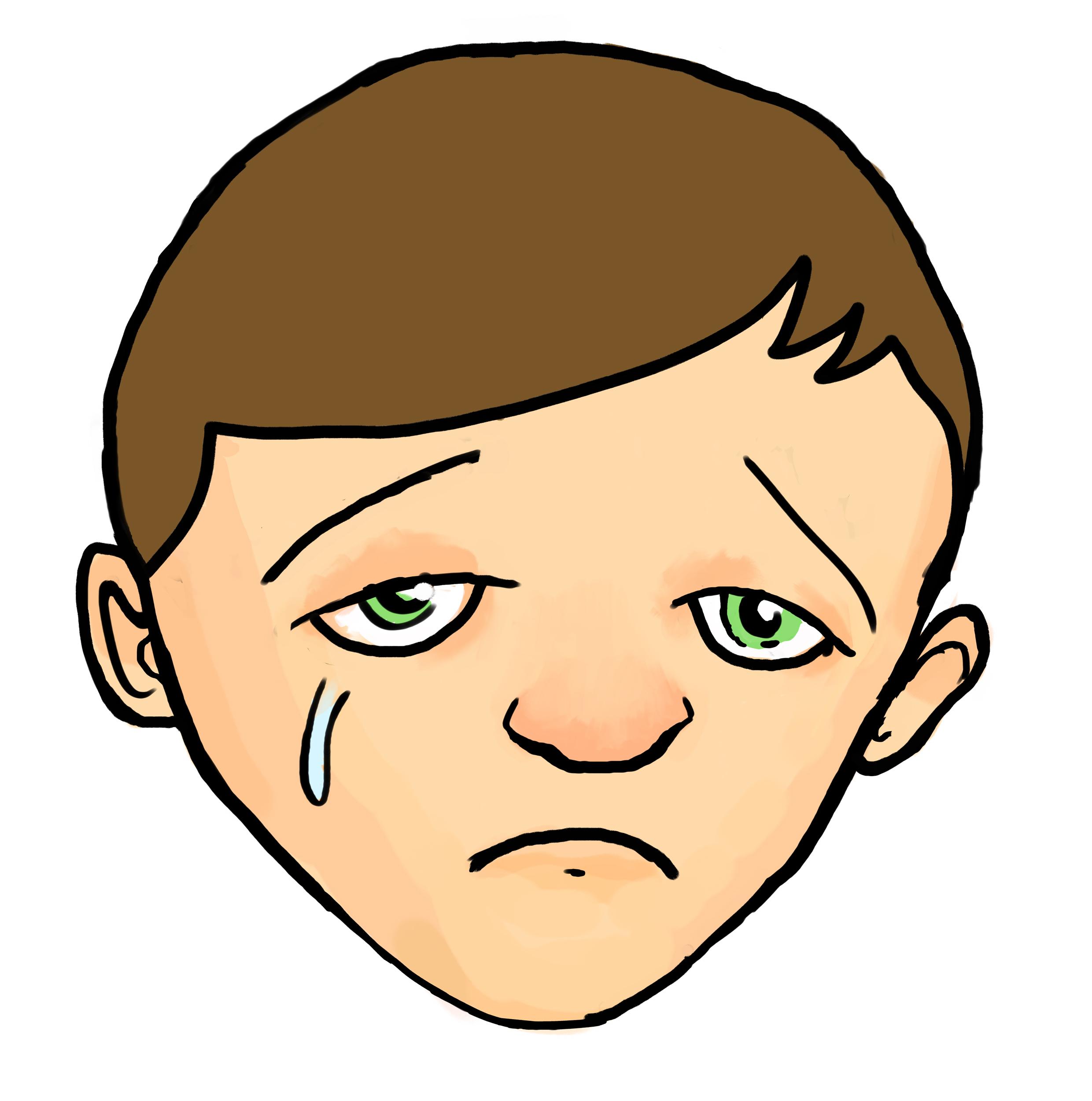 2480x2501 Sad Child Clipart