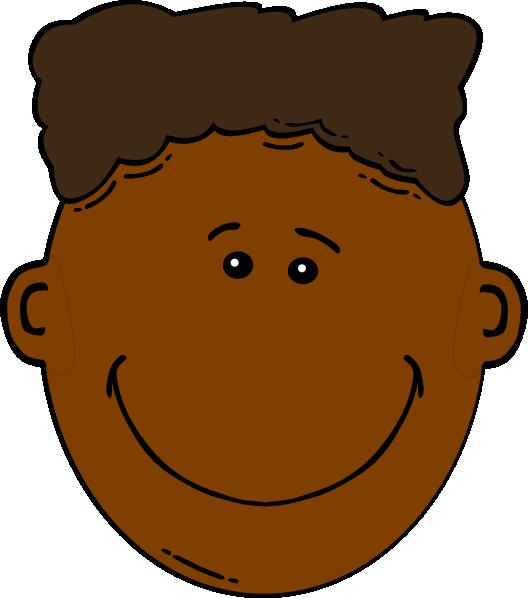 528x598 Black Boy With Flattop Clip Art