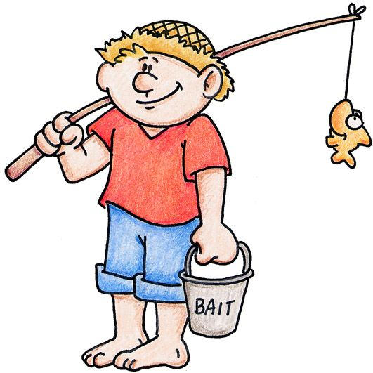 Boy Fishing Clipart