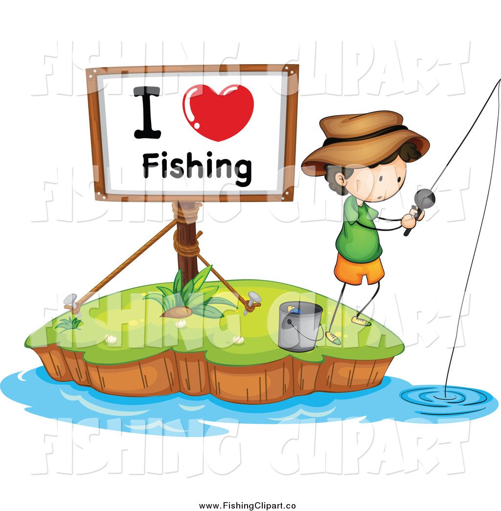 1024x1044 Clip Art Of A I Love Fishing Sign And A White Boy On An Island By