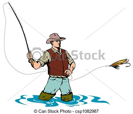 450x386 Fly Fishing Clipart