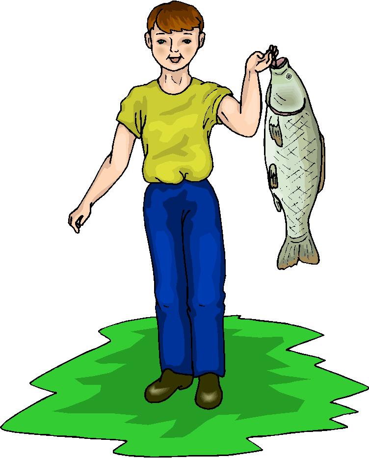 752x933 Image Of Boy Fishing Clipart