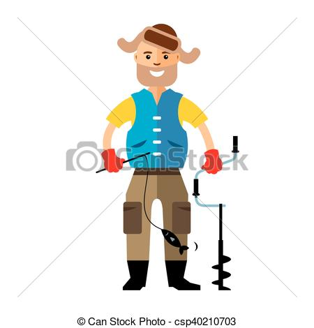 450x470 Small Fisherman With Fish Stock Illustrations. 59 Small Fisherman