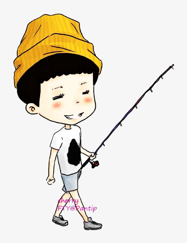 650x847 A Boy With A Fishing Rod, Boy, Fishing, Fishing Rod Png Image