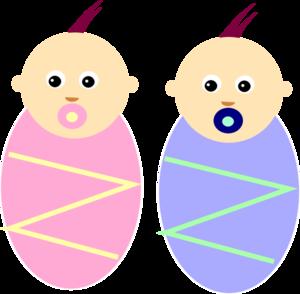 300x294 Boy Girl Twin Babies Clip Art Clipart Panda