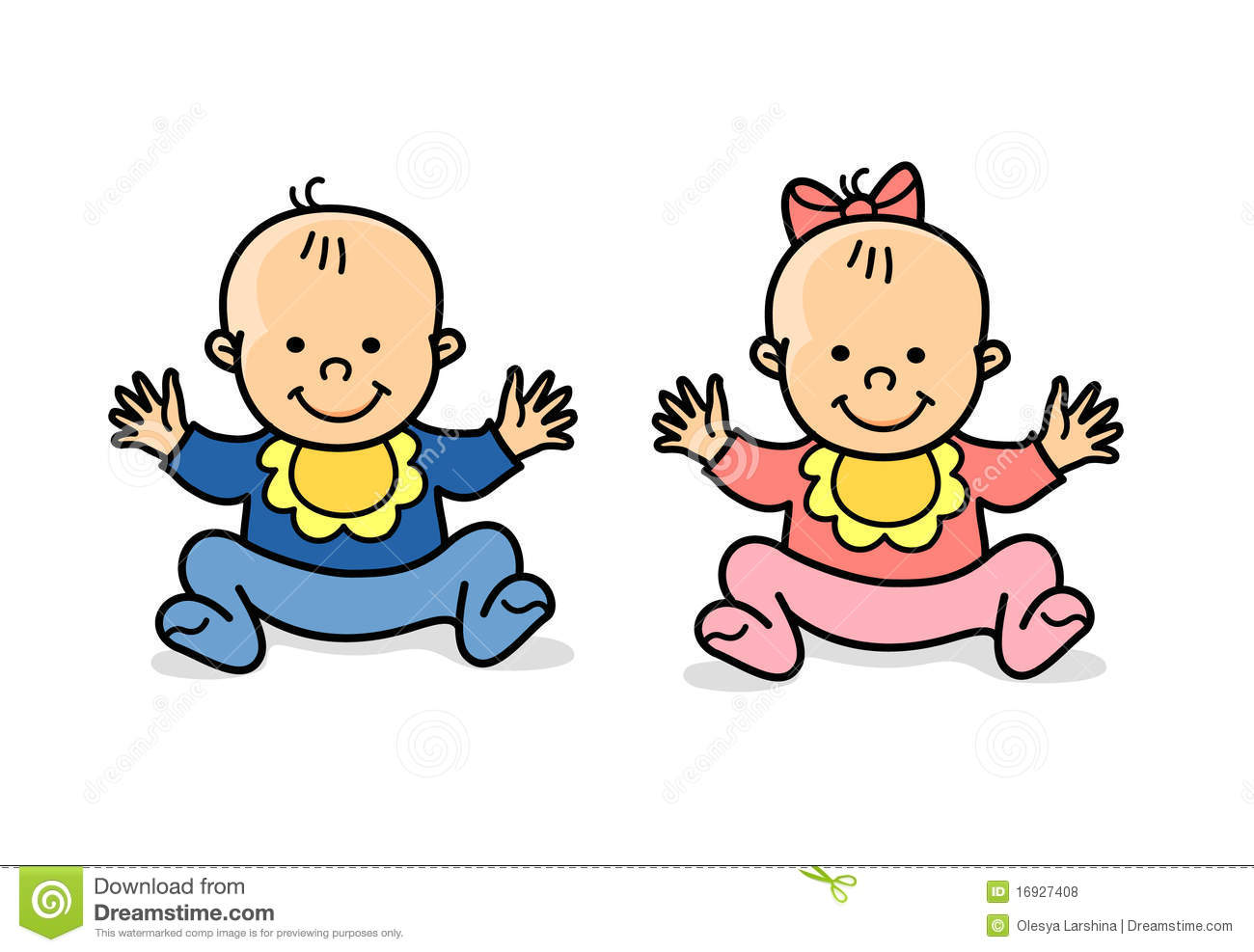 1300x987 Boy Girl Twins Clipart
