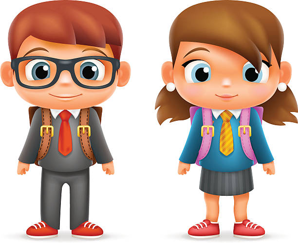 612x499 Clip Art Of Boy And Girl 101 Clip Art