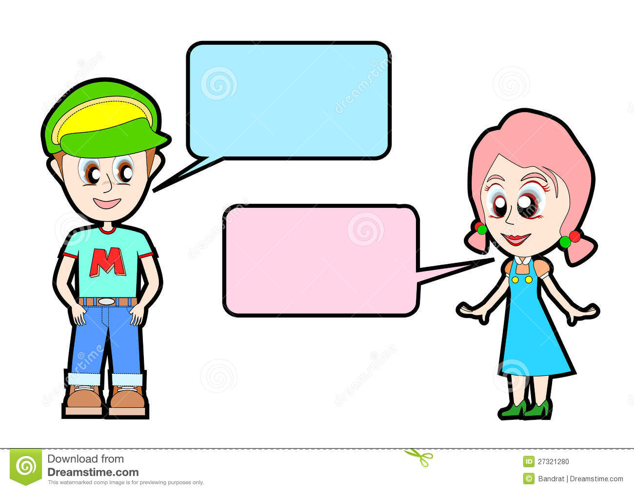 1300x1009 Clipart Girl And Boy Talking Young Talk To Stock Illustration