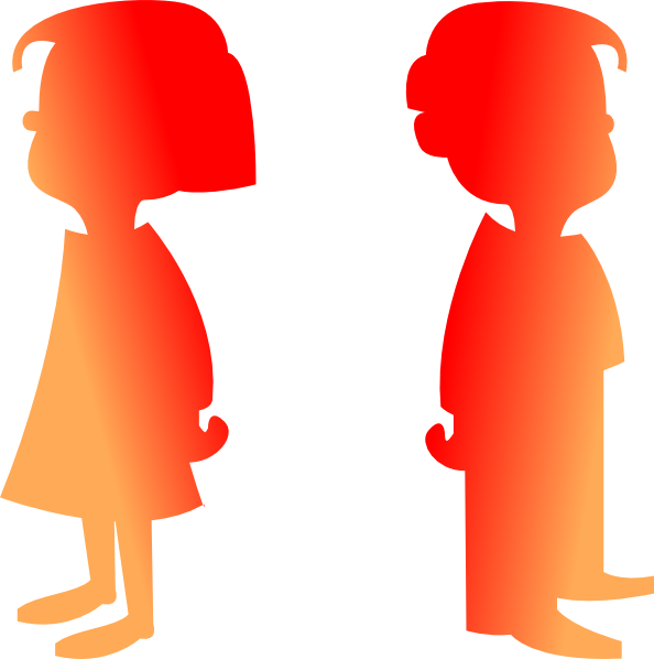 594x598 Figures Boy And Girl 2 Clip Art