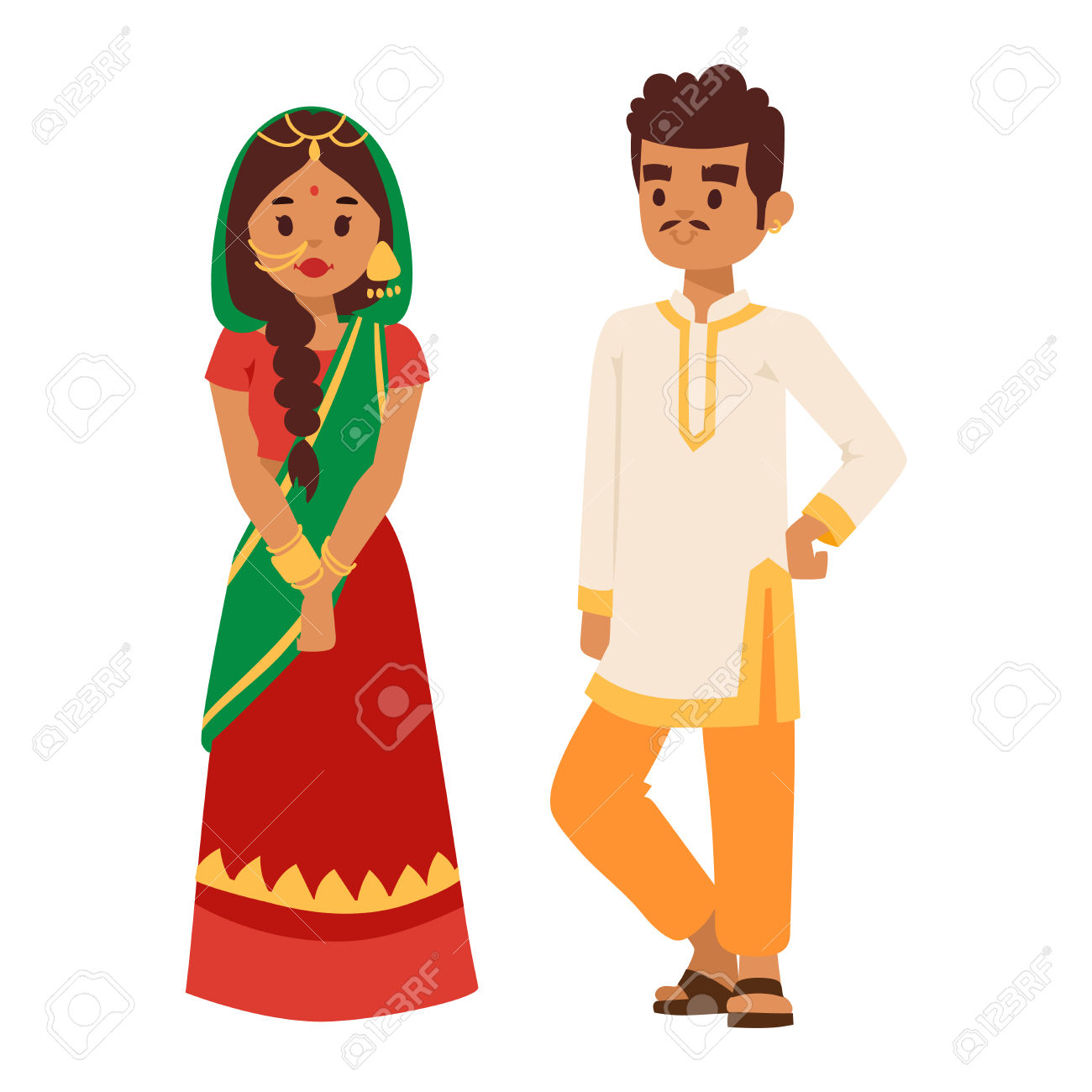 1300x1300 Collection Of Indian Boy And Girl Clipart High Quality, Free