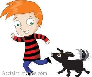 300x252 Cartoon Character Clipart Illustration Of Red Haired Boy Running