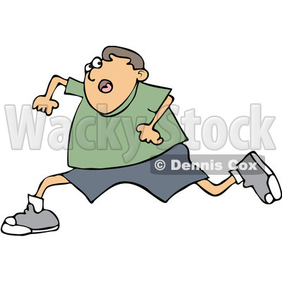400x400 Clipart Boy Running Scared