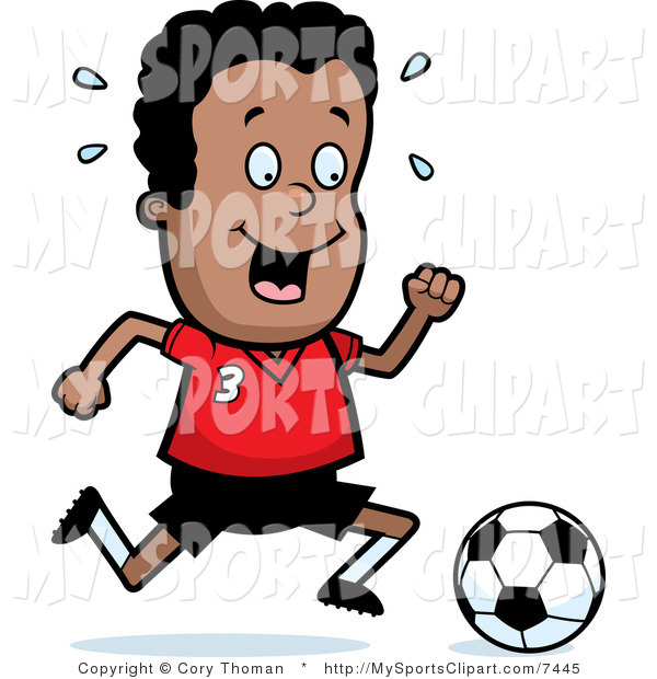 600x620 Sports Clip Art Of A Boy Running After A Ball By Cory Thoman