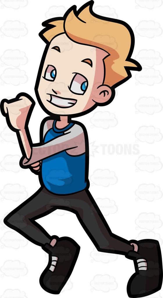 561x1024 A Preadolescent Boy Running Fast Cartoon Clipart Vector Toons