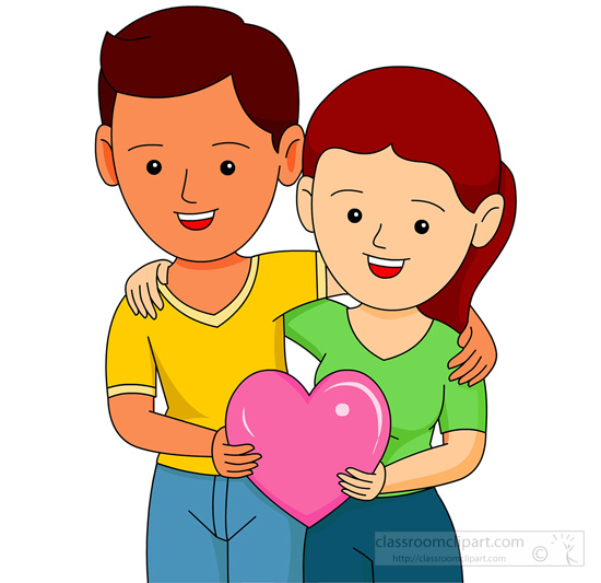 550x533 Couple Clipart Valentine Couple