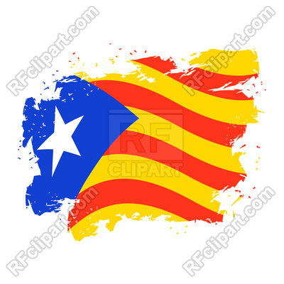 400x400 Catalonia Flag Grunge Style Royalty Free Vector Clip Art Image