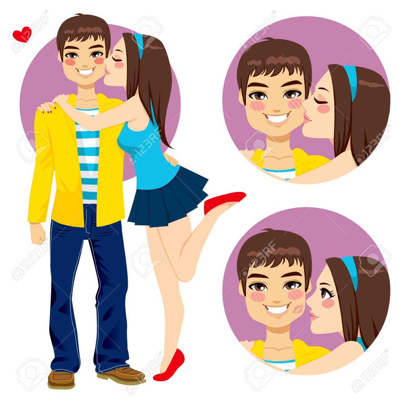 1300x1300 Couple Boyfriend Girlfriend Love Cliparts Stock Vector Art More