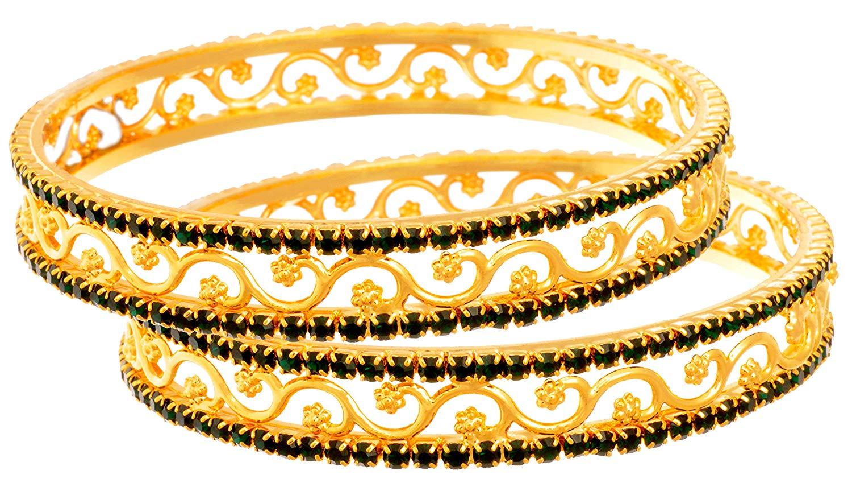 1500x863 Buy Jfl Austrian Diamond One Gram Gold Plated Red Designer Bangle