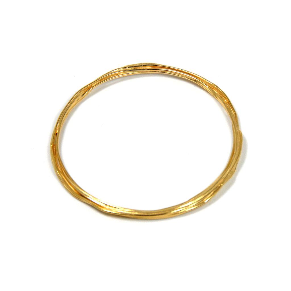 1024x1024 Flourish Wrap Bangle Gold Plate Contemporary Bangles By