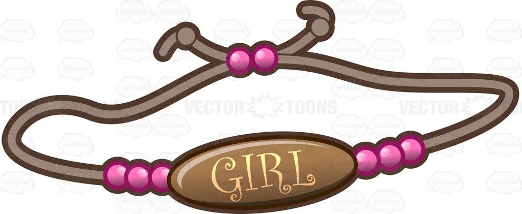 1024x421 A Bracelet For A Baby Girl Cartoon Clipart Vector Toons