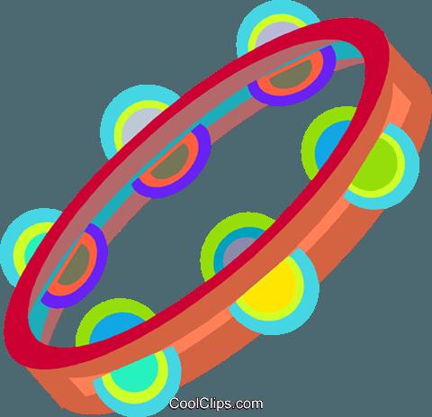 480x463 Tambourine Royalty Free Vector Clip Art Illustration Vc009173