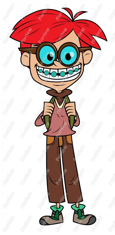 392x800 Boy With Braces Clip Art