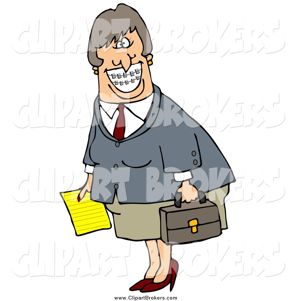 1024x1044 Clip Art Of A Happy White Businesswoman With Braces, Smiling