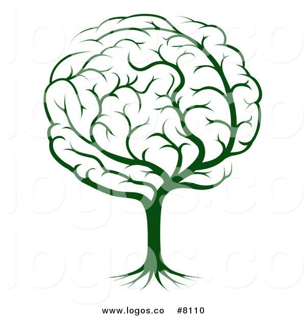 600x620 Royalty Free Clip Art Vector Logo Of A Green Tree Brain Designs