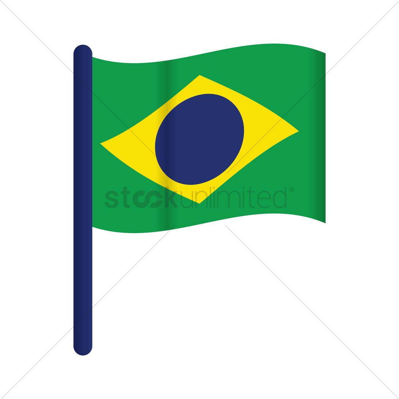 1300x1300 Brazil Flag Vector Image
