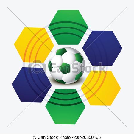 450x470 Brazil Flag Concept Soccer Colorful Creative Design Clip Art