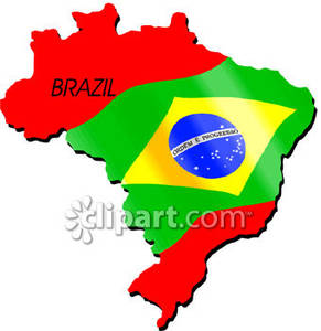 291x300 Map Of Brazil With Flag