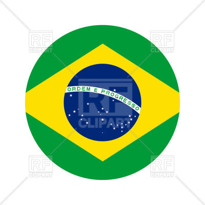 400x400 Round Icon Of Brazil Flag On White Background Royalty Free Vector
