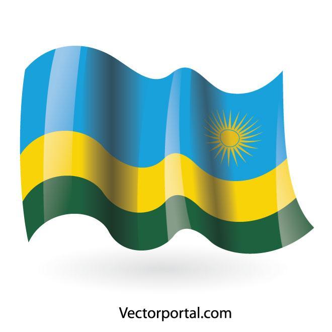 660x660 Rwanda Flag Vector Clip Art