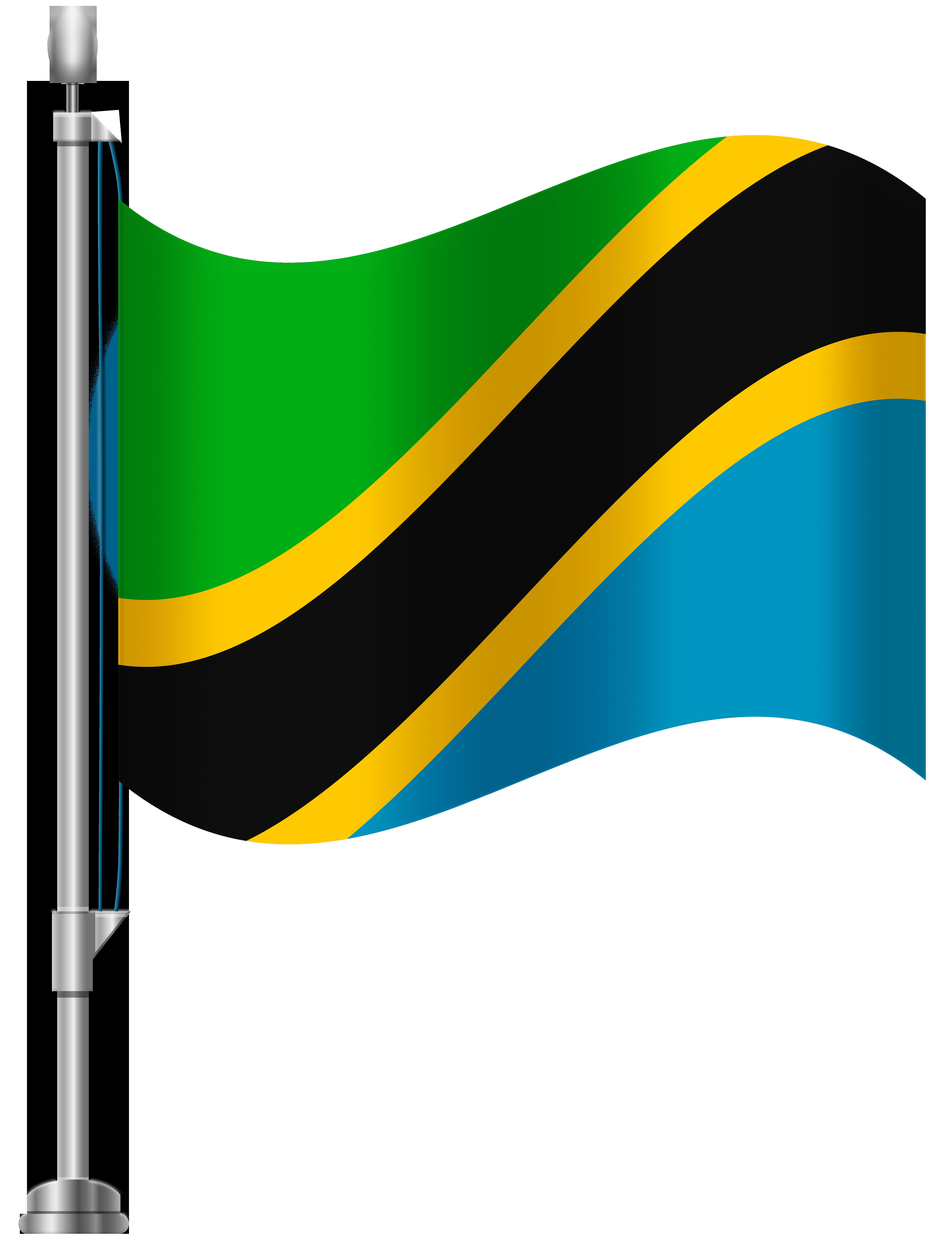 6141x8000 Tanzania Flag Png Clip Art