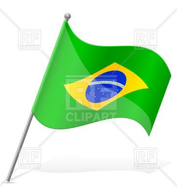 362x400 Wavy Flag Of Brazil Royalty Free Vector Clip Art Image