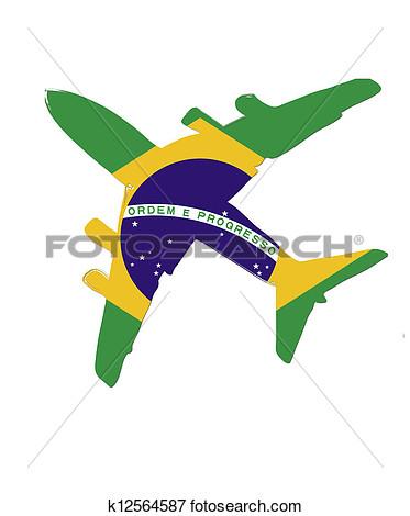 373x470 Brazil Flag Paint Clipart