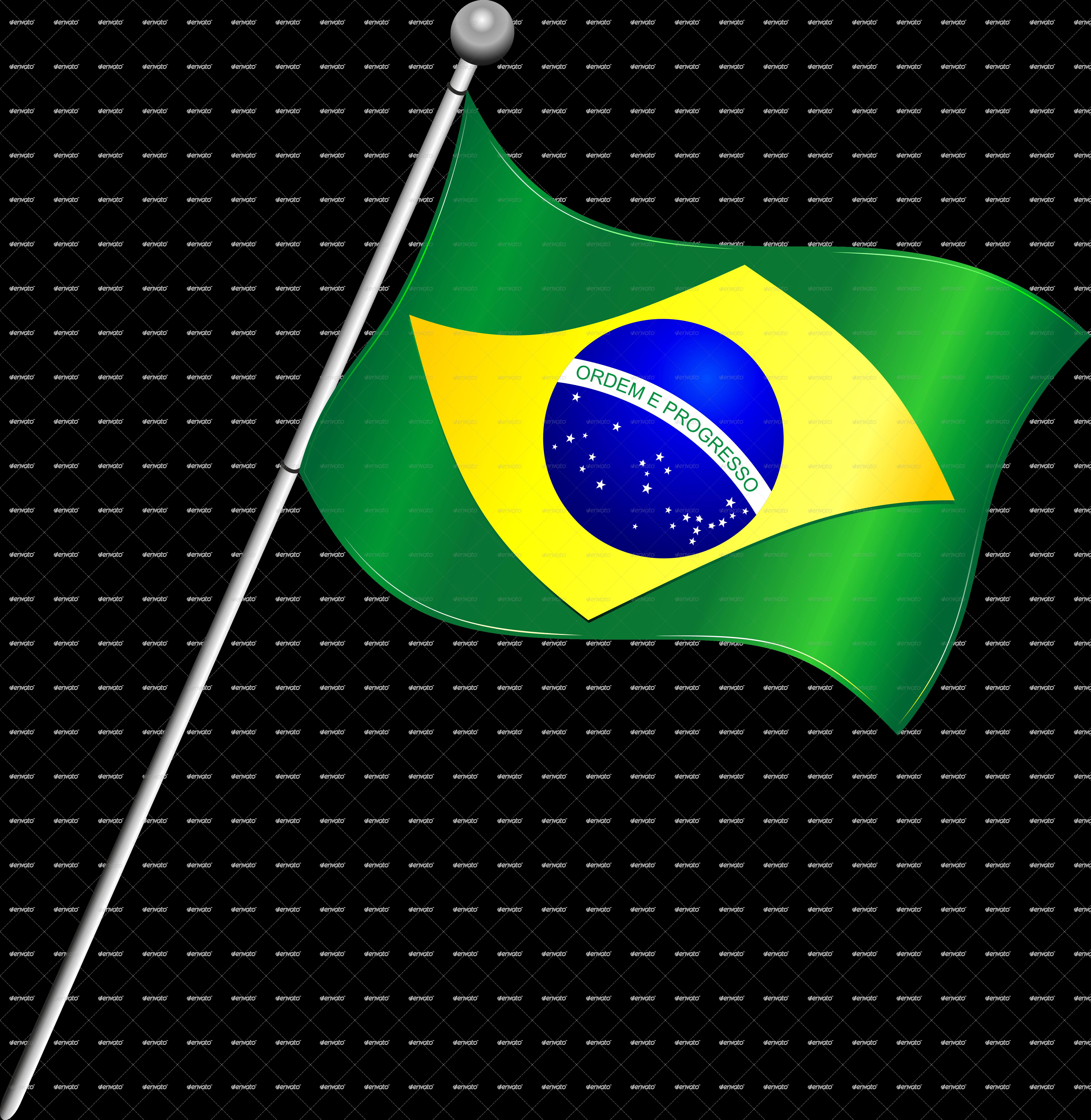 4870x4999 Brazil Flag Transparent Background Png Mart